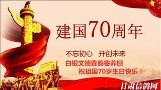 甘肃白银文德赛鸽庆祝建国70周年